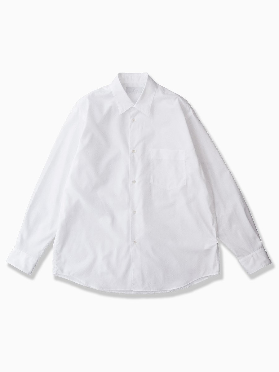 <img class='new_mark_img1' src='//img.shop-pro.jp/img/new/icons47.gif' style='border:none;display:inline;margin:0px;padding:0px;width:auto;' />BRAND : Graphpaper<br>MODEL : REGULAR COLLAR SHIRT<br>COLOR : WHITE