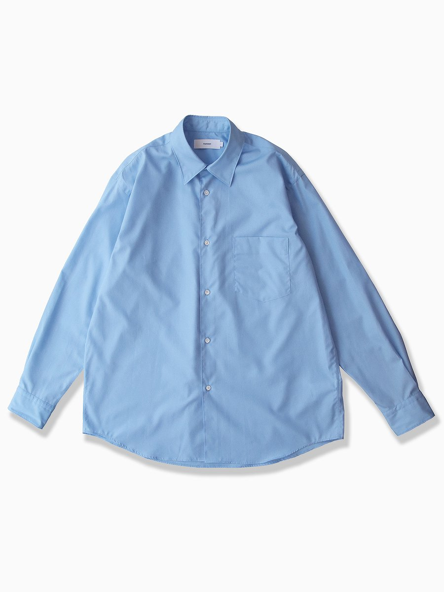 <img class='new_mark_img1' src='//img.shop-pro.jp/img/new/icons47.gif' style='border:none;display:inline;margin:0px;padding:0px;width:auto;' />BRAND : Graphpaper<br>MODEL : REGULAR COLLAR SHIRT<br>COLOR : SAX