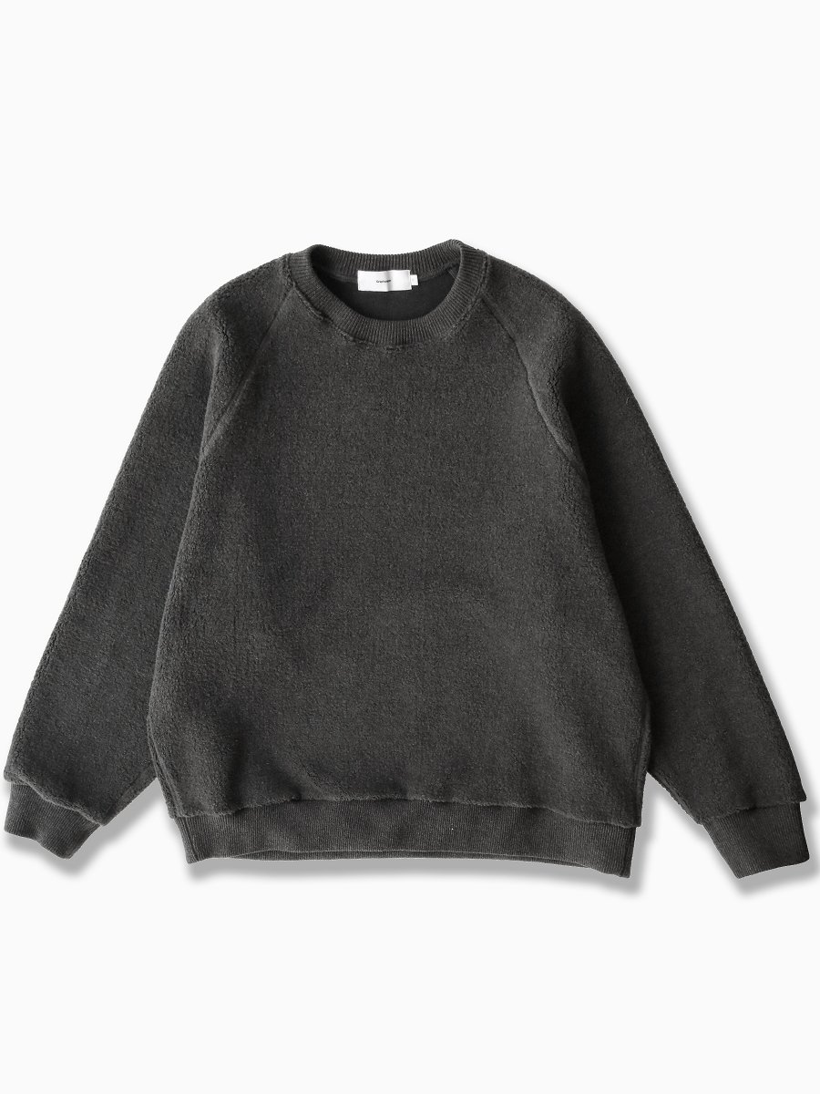 BRAND : Graphpaper<br>MODEL : WOOL BOA SWEATER<br>COLOR : GRAY