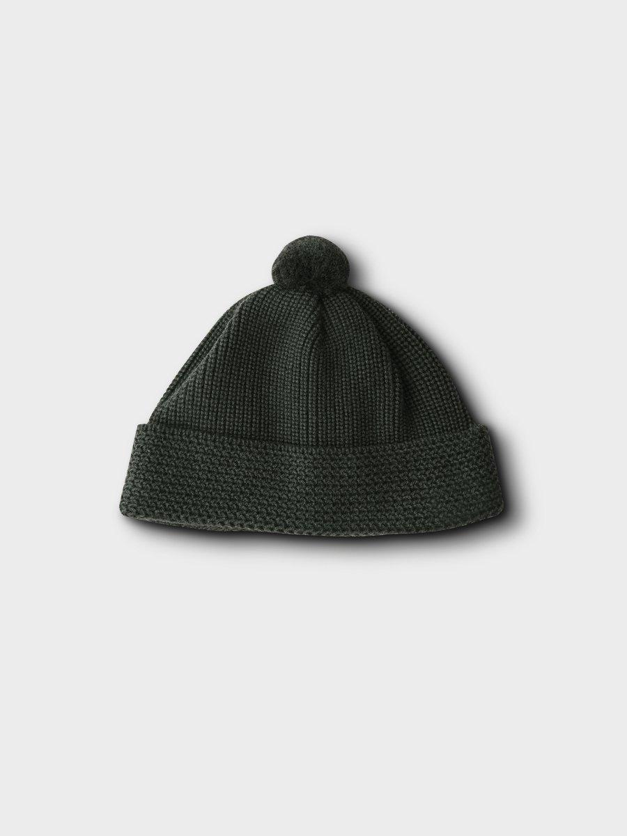 BRAND : PHIGVEL<br>MODEL : BONBON WATCH CAP<br>COLOR : BLACK GREEN