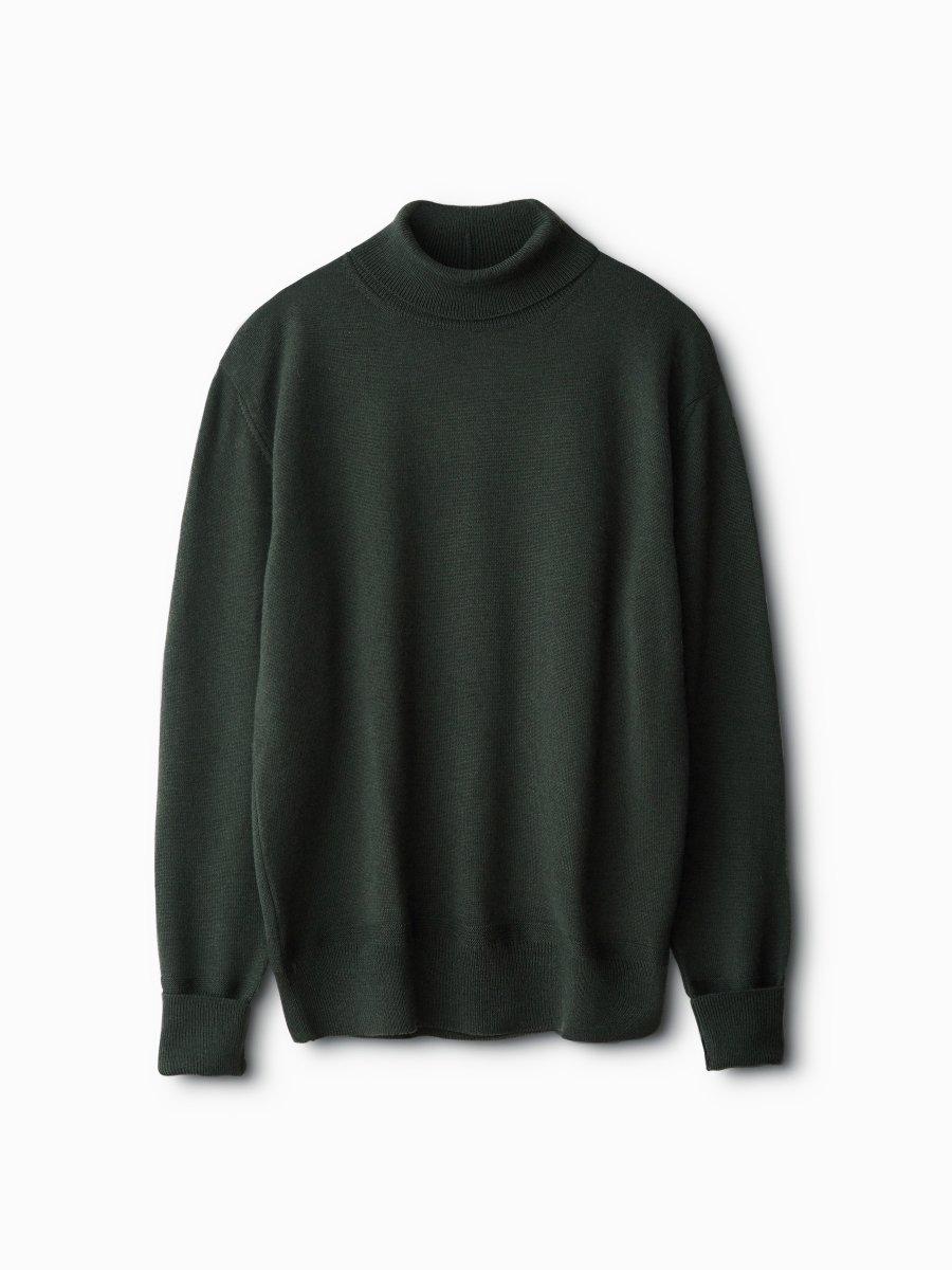 BRAND : PHIGVEL<br>MODEL : TURTLENECK SWEATER<br>COLOR : BLACK GREEN