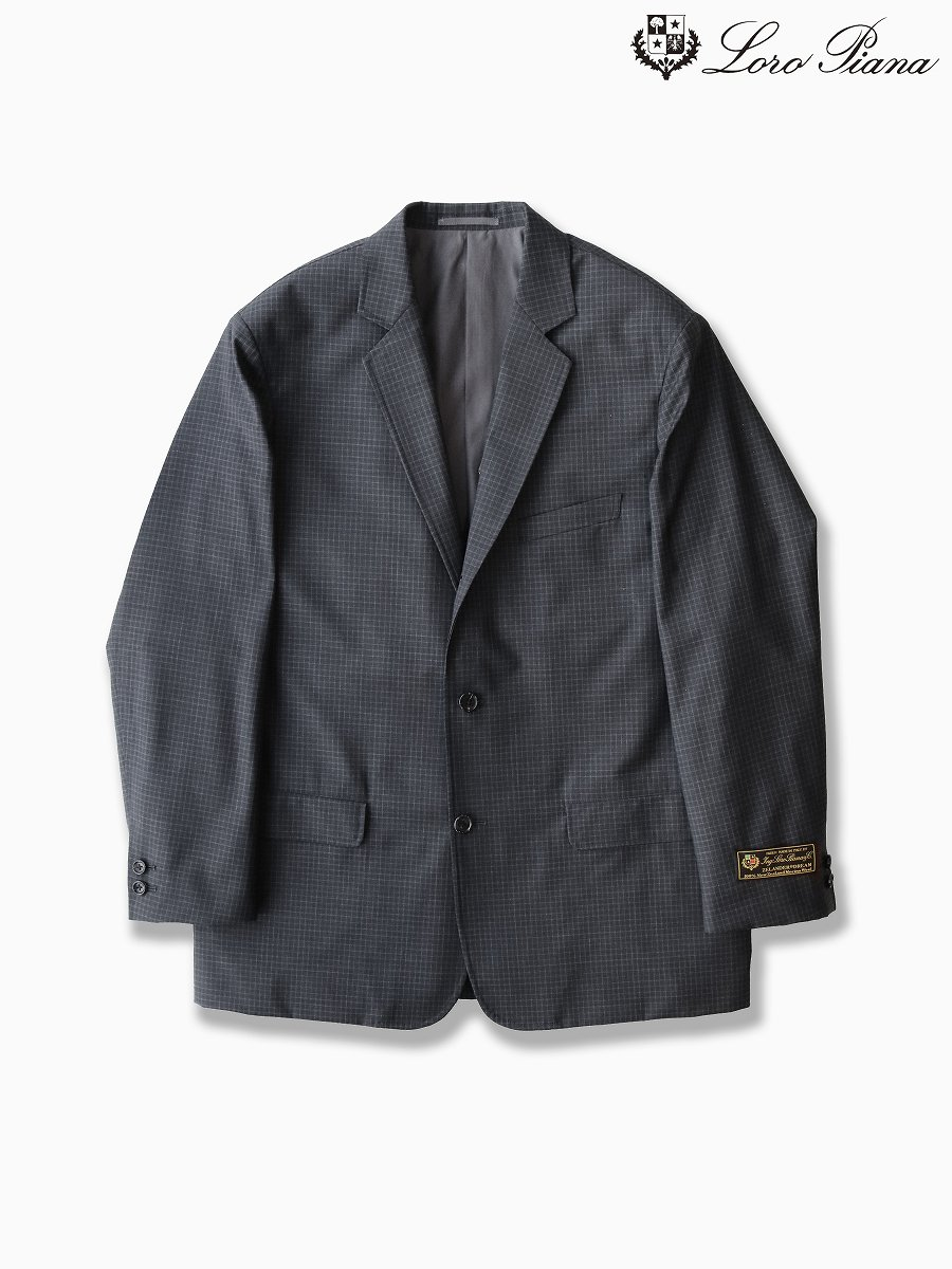 BRAND : Graphpaper<br>MODEL : LORO PIANA CLASSIC JACKET<br>COLOR : CHARCOAL