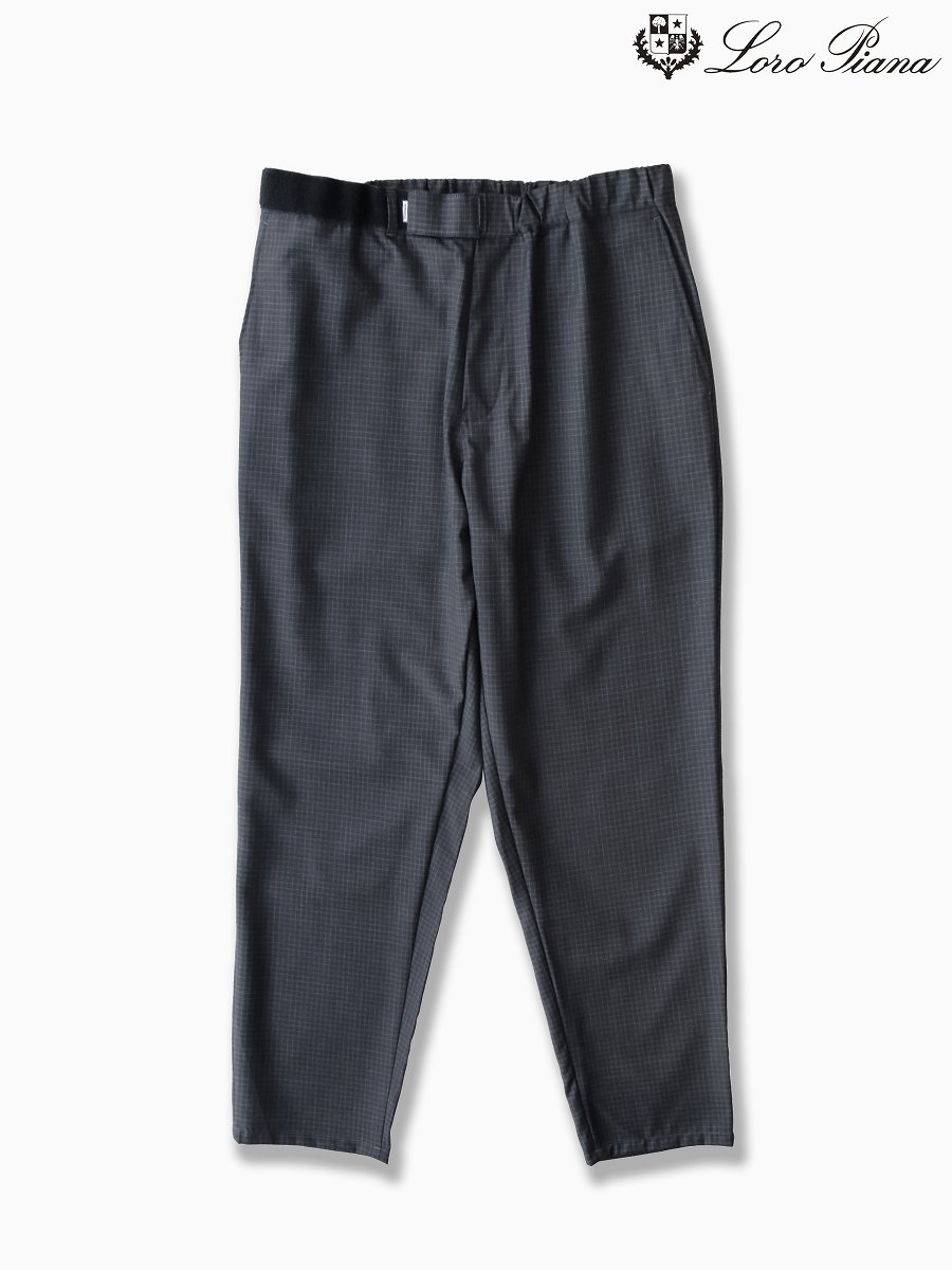 BRAND : Graphpaper<br>MODEL : LORO PIANA COOK PANTS<br>COLOR : CHARCOAL