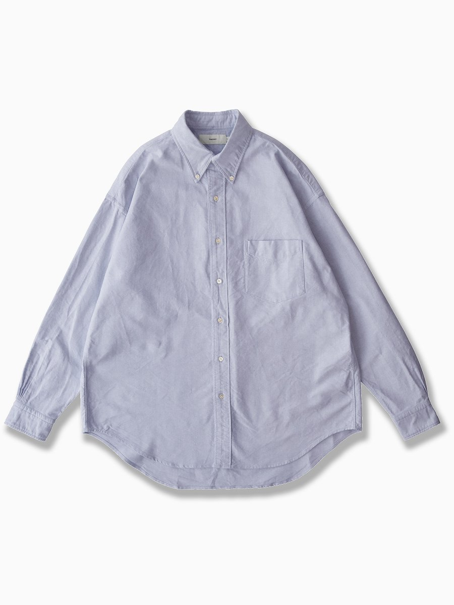 BRAND : Graphpaper<br>MODEL : OXFORD L/S B.D BOX SHIRT<br>COLOR : BLUE