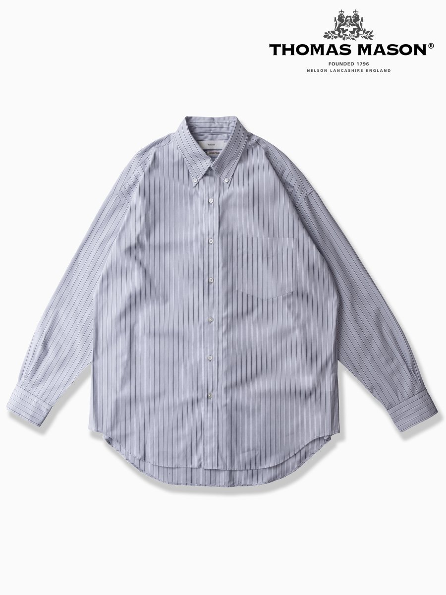 BRAND : Graphpaper<br>CONNECTED : THOMAS MASON<br>MODEL : L/S B.D SHIRT<br>COLOR : GRAY ST
