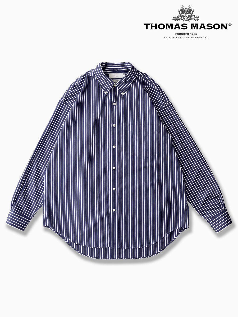BRAND : Graphpaper<br>CONNECTED : THOMAS MASON<br>MODEL : L/S B.D SHIRT<br>COLOR : NAVY ST