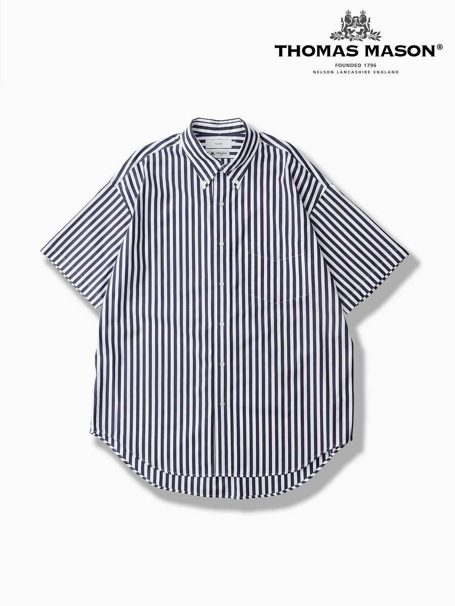 BRAND : Graphpaper<br>CONNECTED : THOMAS MASON<br>MODEL : S/S B.D SHIRT<br>COLOR : WHITE ST