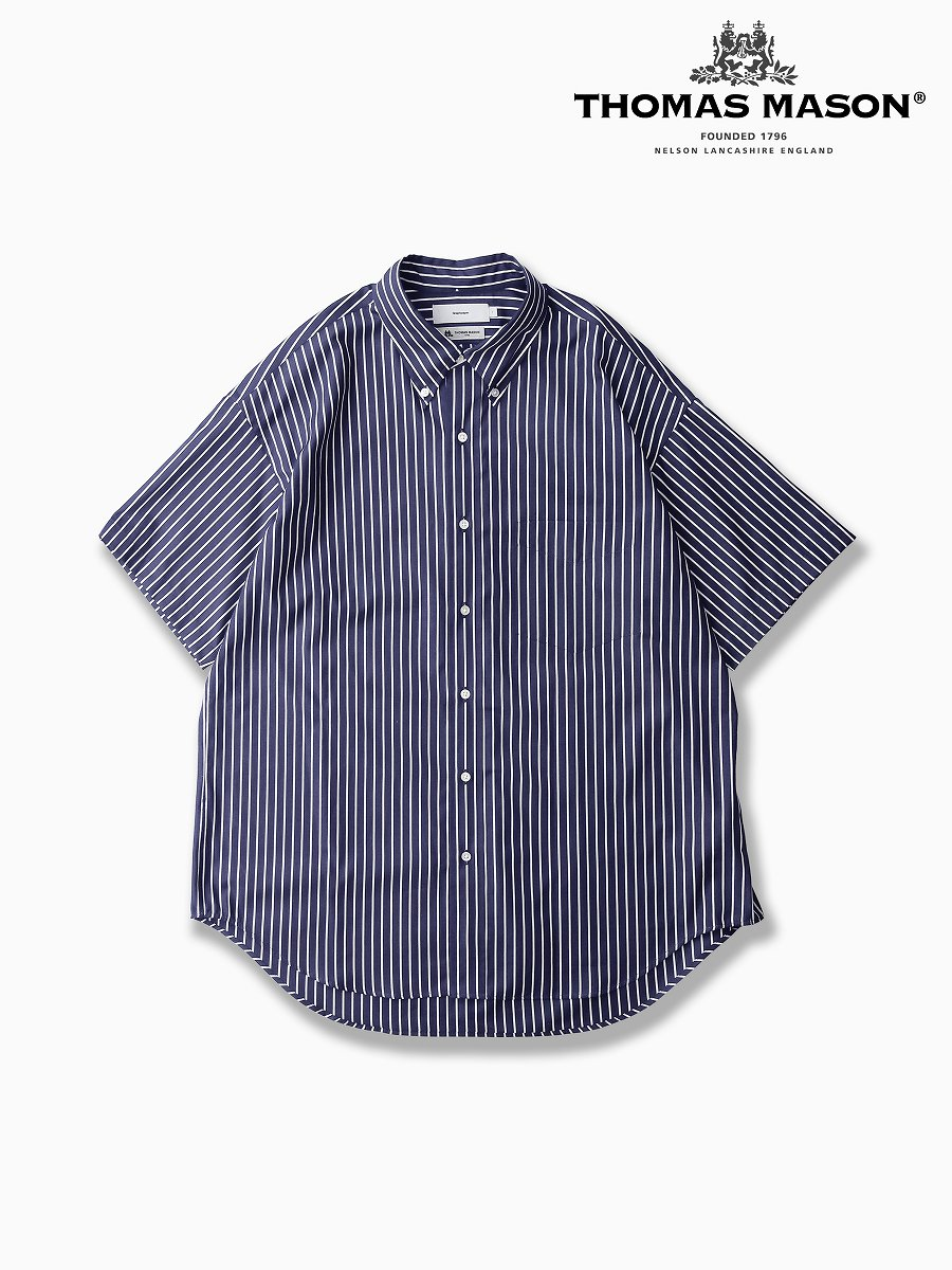 BRAND : Graphpaper<br>CONNECTED : THOMAS MASON<br>MODEL : S/S B.D SHIRT<br>COLOR : NAVY ST