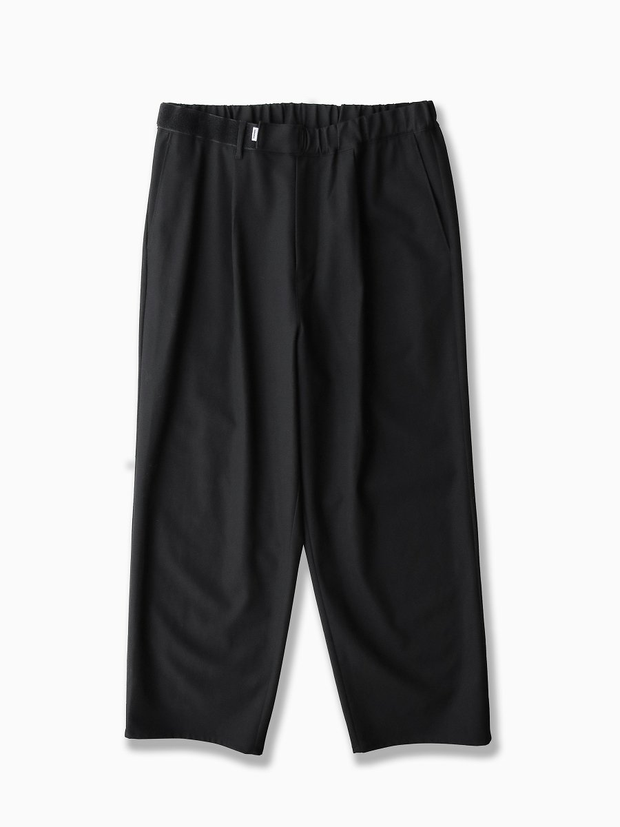 BRAND : Graphpaper<br>MODEL : COTTON TWILL WIDE TUCK COOK PANT<br>COLOR : BLACK