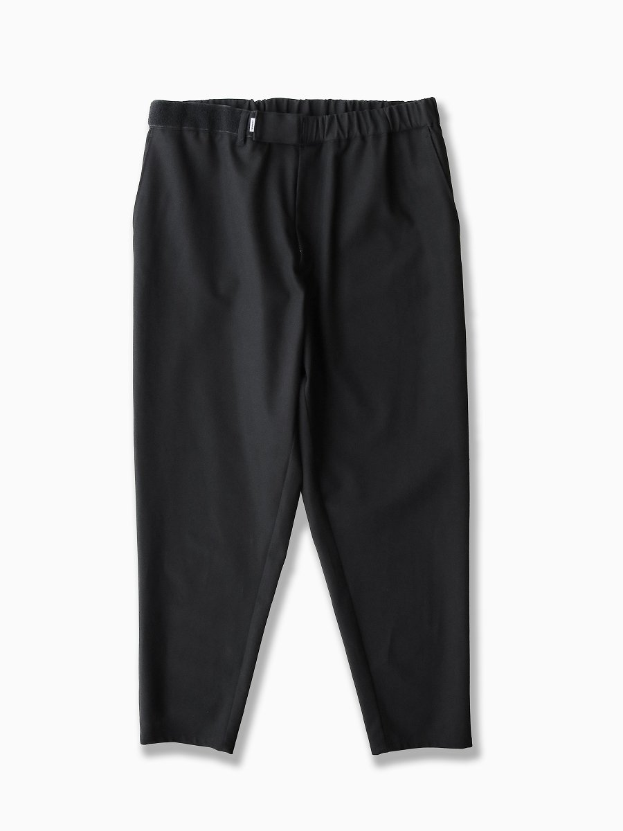 BRAND : Graphpaper<br>MODEL : COTTON TWILL COOK PANTS<br>COLOR : BLACK