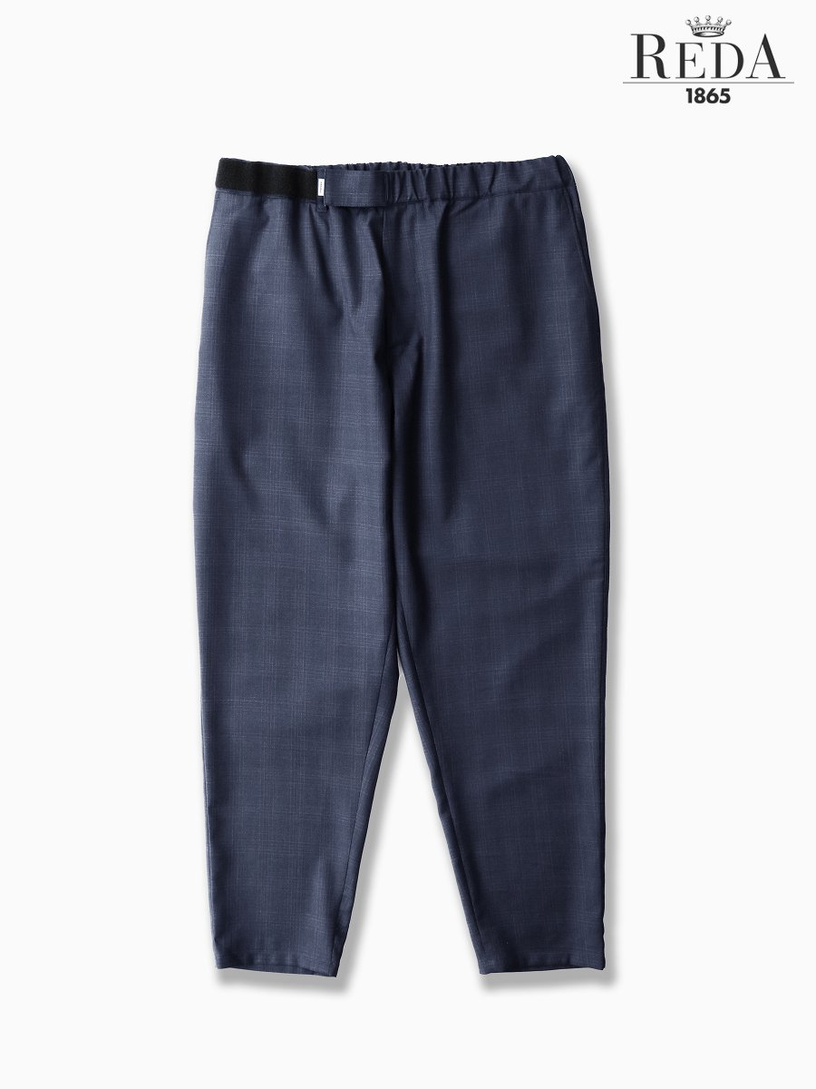 BRAND : Graphpaper<br>MODEL : REDA CHECK COOK PANTS<br>COLOR : NAVY CH