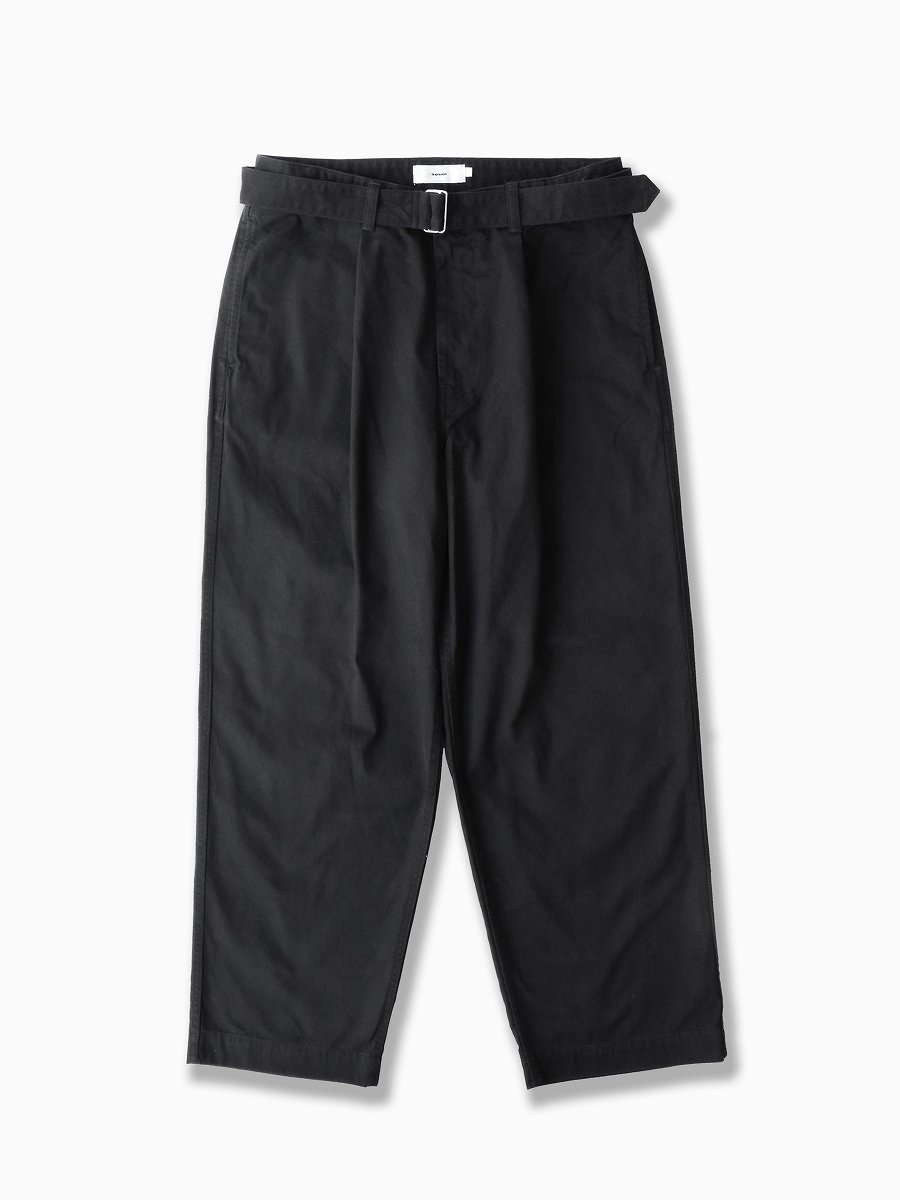 BRAND : Graphpaper<br>MODEL : MILITARY CLOTH BELTED PANTS<br>COLOR : BLACK