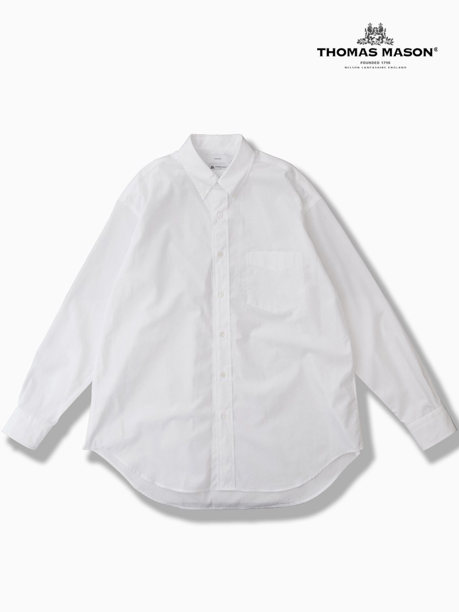 BRAND : Graphpaper<br>CONNECTED : THOMAS MASON<br>MODEL : L/S B.D BOX SHIRT<br>COLOR : B WHITE
