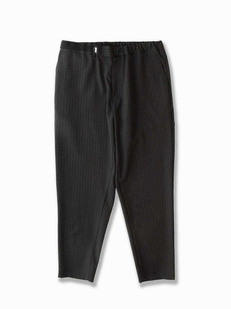 BRAND : Graphpaper<br>MODEL : SELVAGE WOOL COOK PANTS<br>COLOR : BLACK ST
