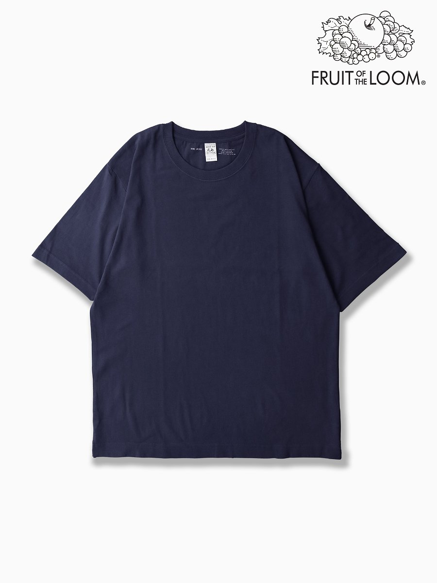 BRAND : VAINL ARCHIVE<br>CONNECTED : FRUIT OF THE ROOM<br>MODEL : SS TEE<br>COLOR : NAVY