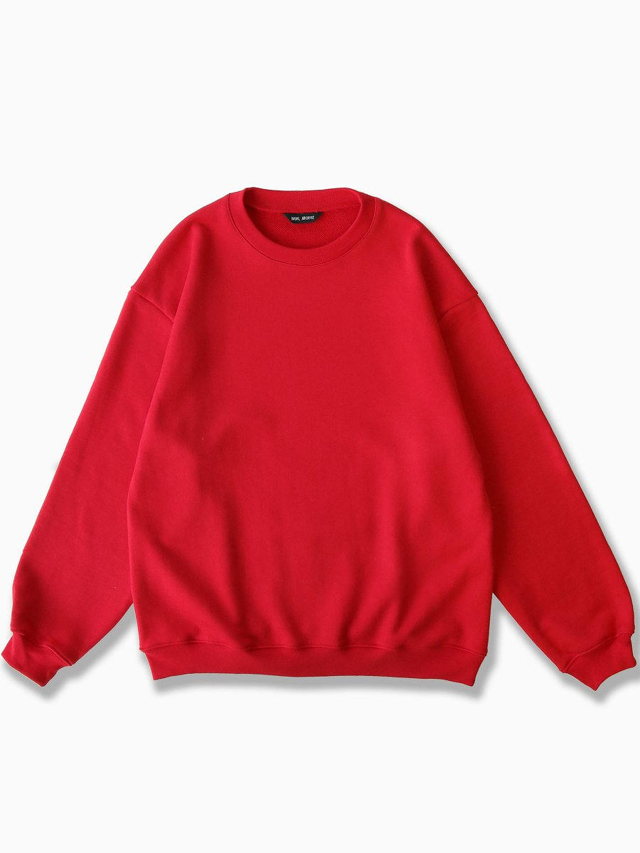 BRAND : VAINL ARCHIVE<br>MODEL : C-CREW<br>COLOR : RED