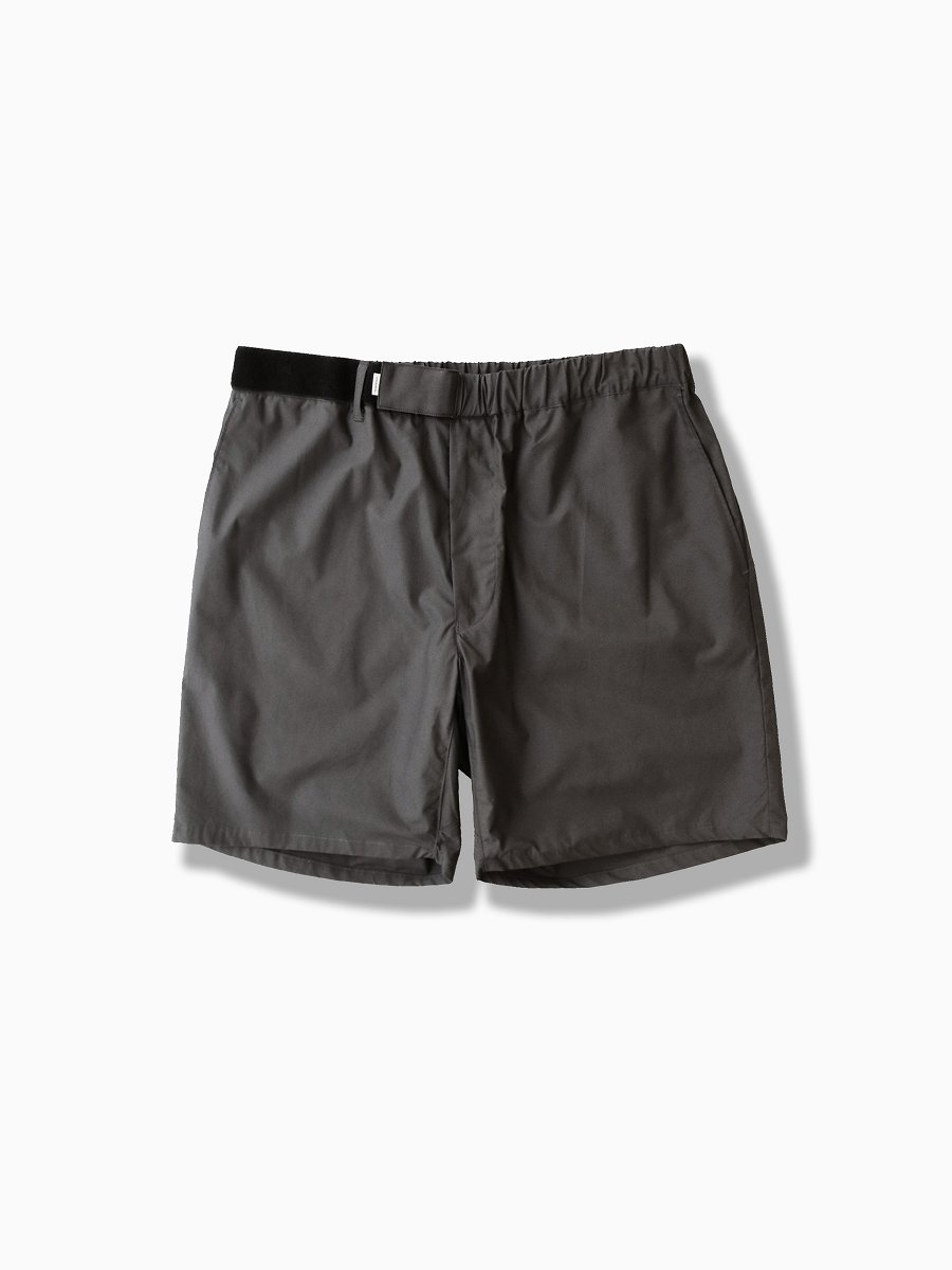 BRAND : Graphpaper<br>MODEL : STRETCH TYPEWRITER COOK SHORTS<br>COLOR : GRAY