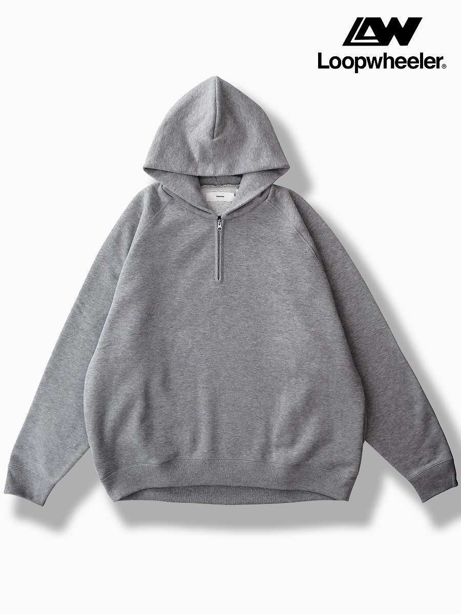 BR3AND : Graphpaper<br>CONNECTED : LOOPWHEELER<br>MODEL : HALF-ZIP PARKA<br>COLOR : H.GRAY