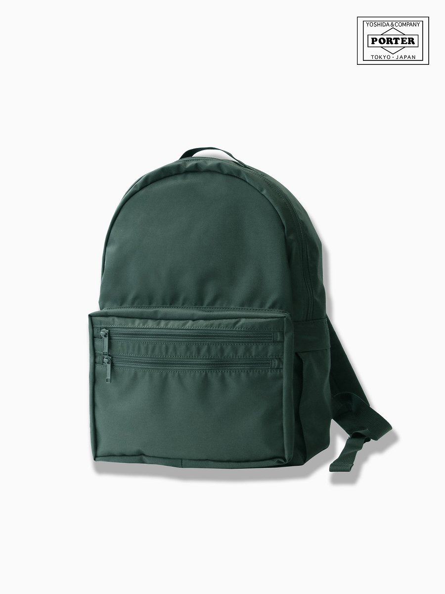 BRAND : VAINL ARCHIVE<br>CONNECTED : PORTER<br>MODEL : DAY PACK<br>COLOR : GREEN