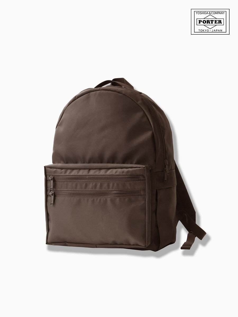 BRAND : VAINL ARCHIVE<br>CONNECTED : PORTER<br>MODEL : DAY PACK<br>COLOR : BROWN