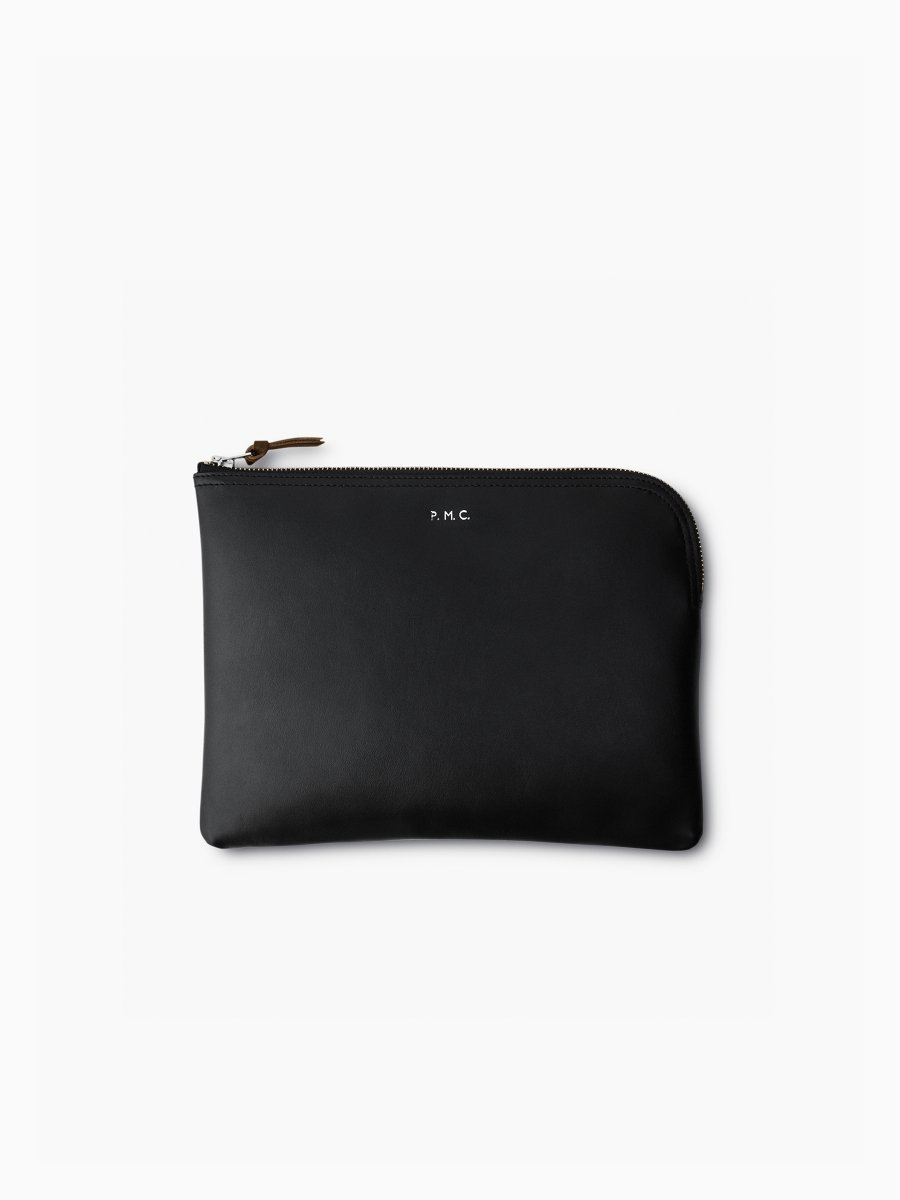 BRAND : PHIGVEL<br>MODEL : LEATHER PURSE L<br>COLOR : BLACK