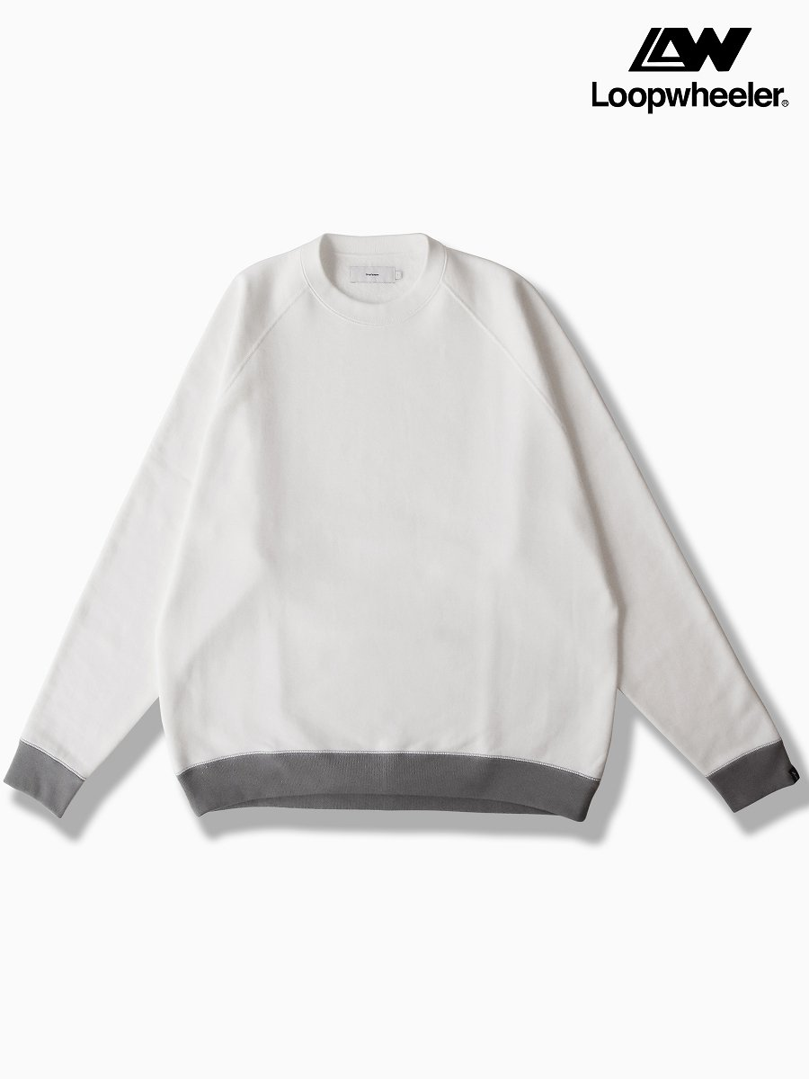 BRAND : Graphpaper<br>CONNECTED : LOOPWHEELER<br>MODEL : RAGLAN SWEAT<br>COLOR : WHITE