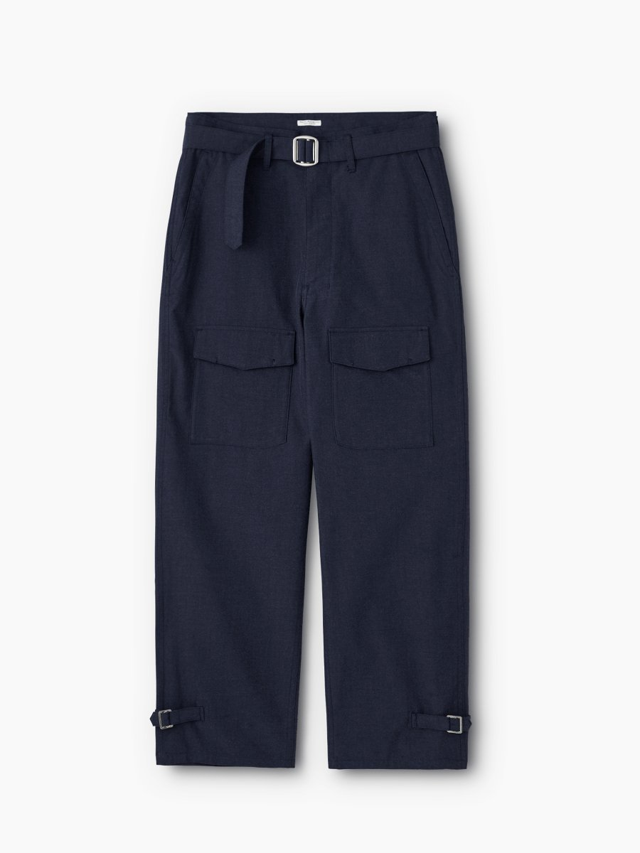 BRAND : PHIGVEL<br>MODEL : AVIATOR TROUSERS<br>COLOR : D.NAVY