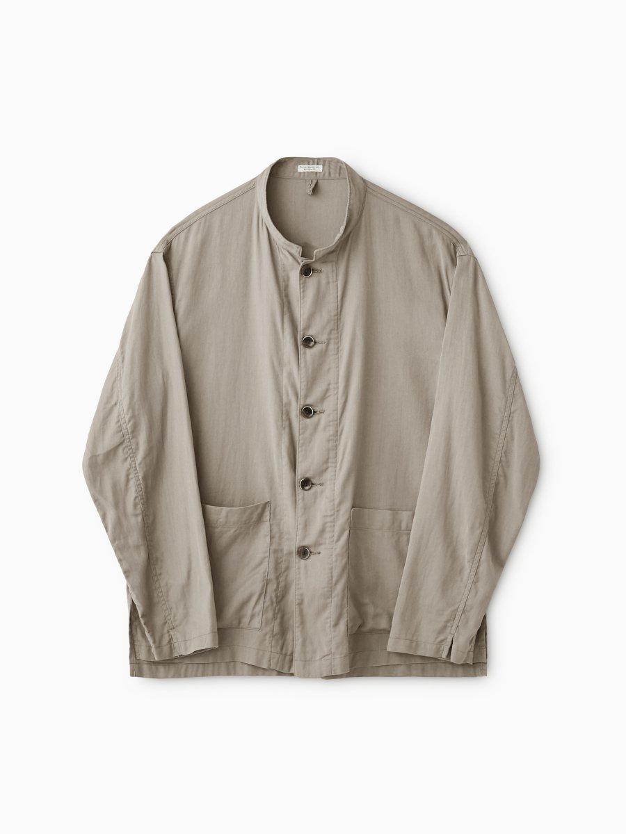 BRAND : PHIGVEL<br>MODEL : RESORT LS SHIRT JACKET<br>COLOR : TAUPE GRAY