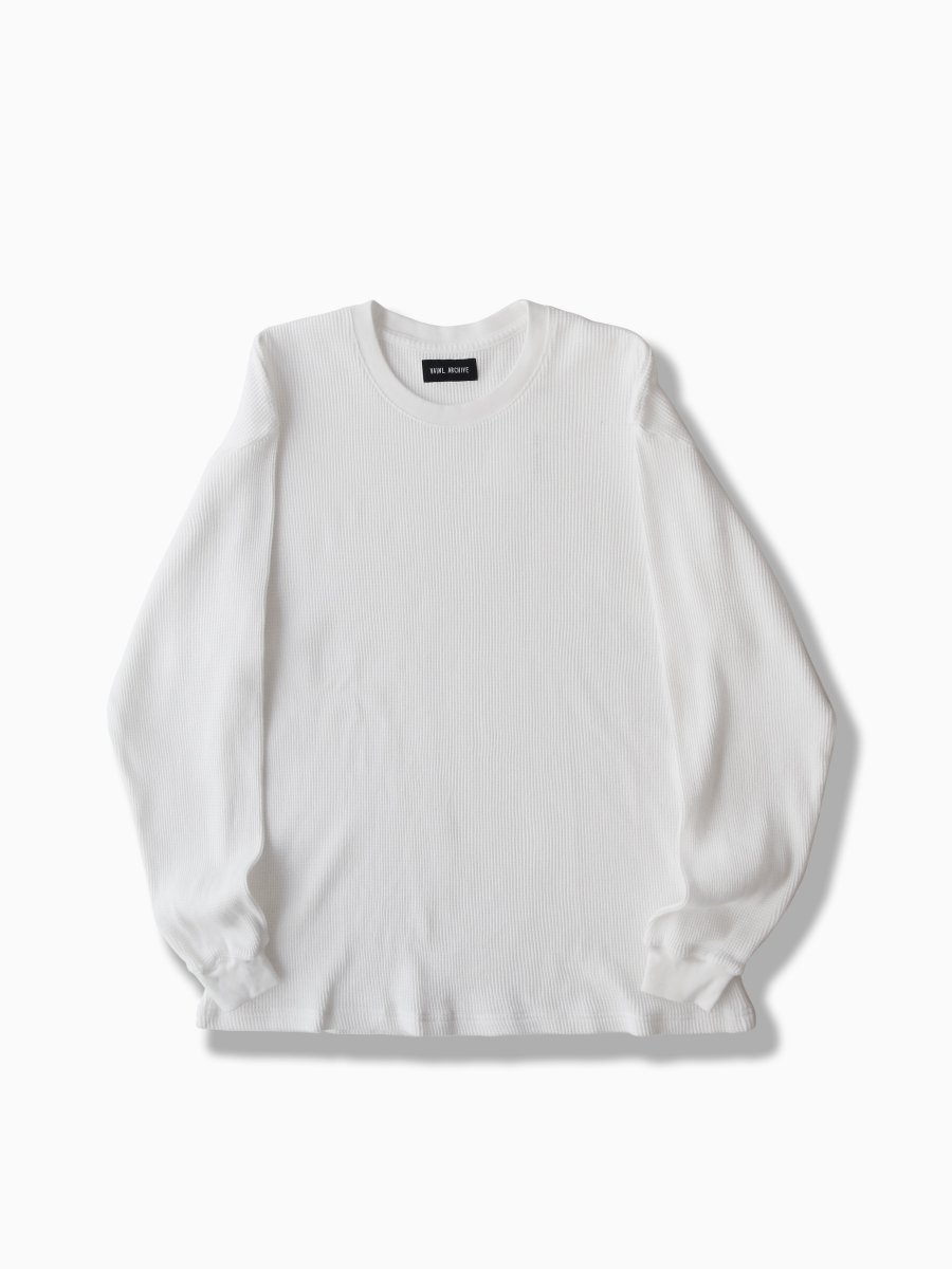 BRAND : VAINL ARCHIVE<br>MODEL : BASIC-WLS<br>COLOR : WHITE