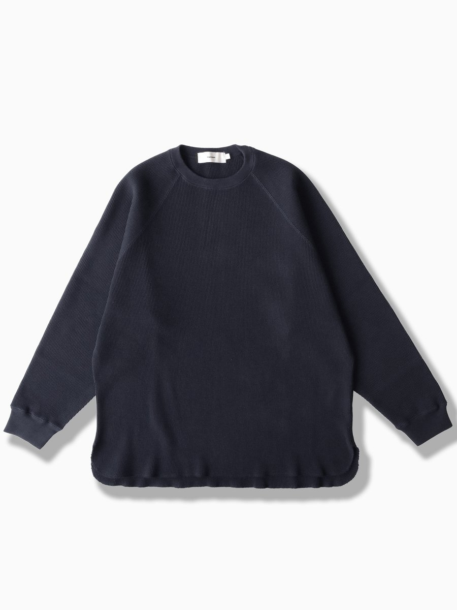 BRAND : Graphpaper<br>MODEL : WAFFLE L/S TEE<br>COLOR : NAVY