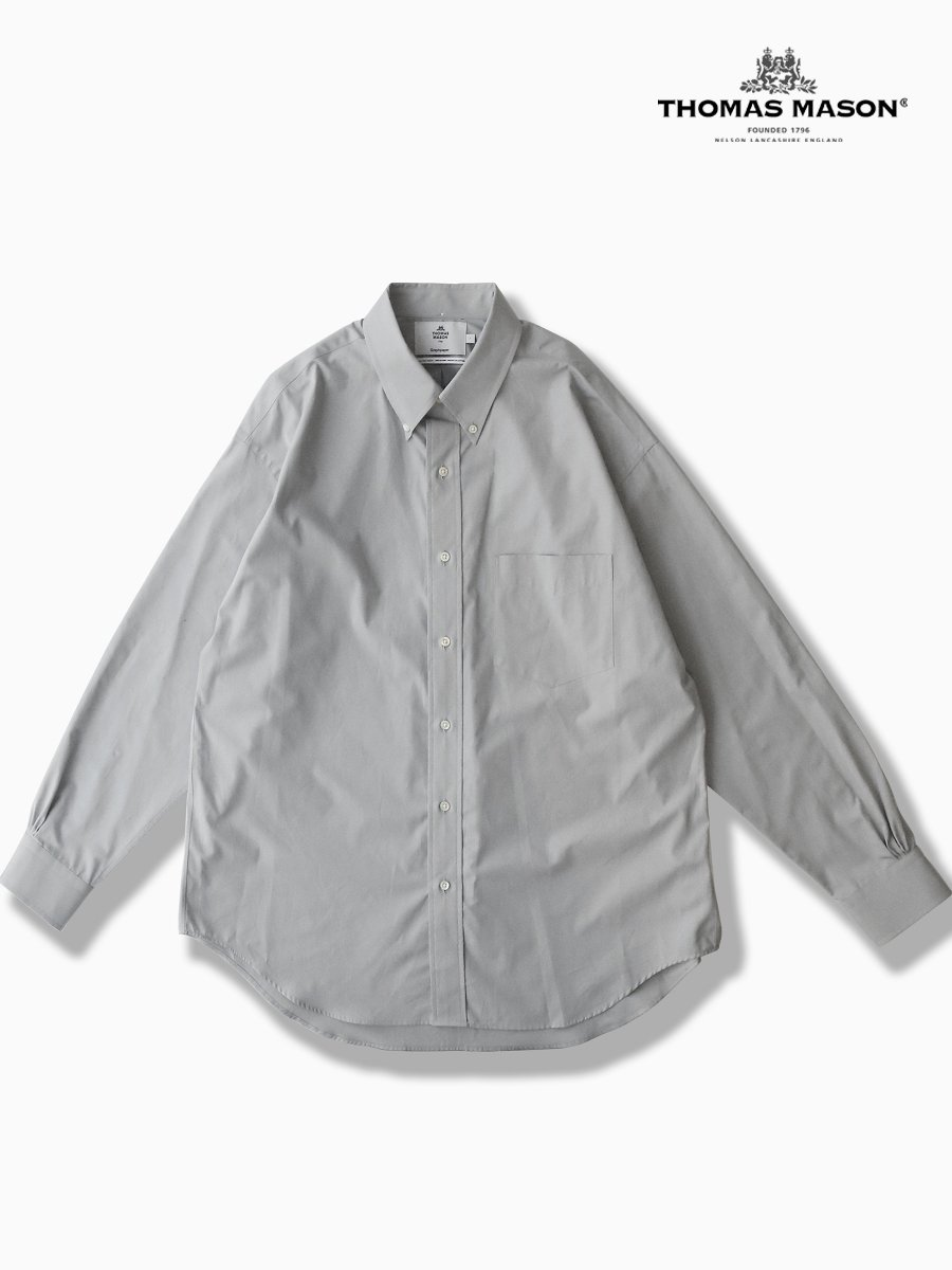 BRAND : Graphpaper<br>CONNECTED : THOMAS MASON<br>MODEL : B.D BOX SHIRT<br>COLOR : L.GRAY