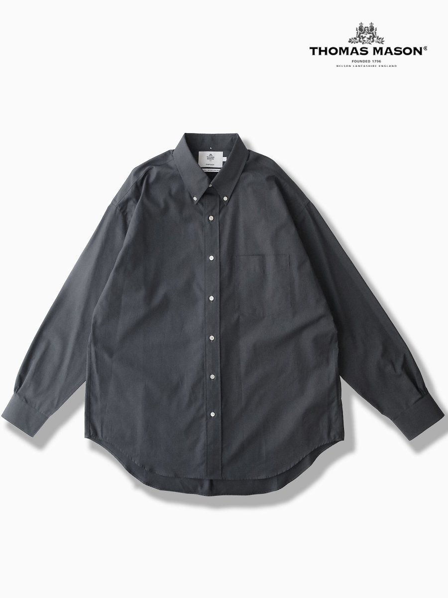 BRAND : Graphpaper<br>CONNECTED : THOMAS MASON<br>MODEL : B.D BOX SHIRT<br>COLOR : C.GRAY