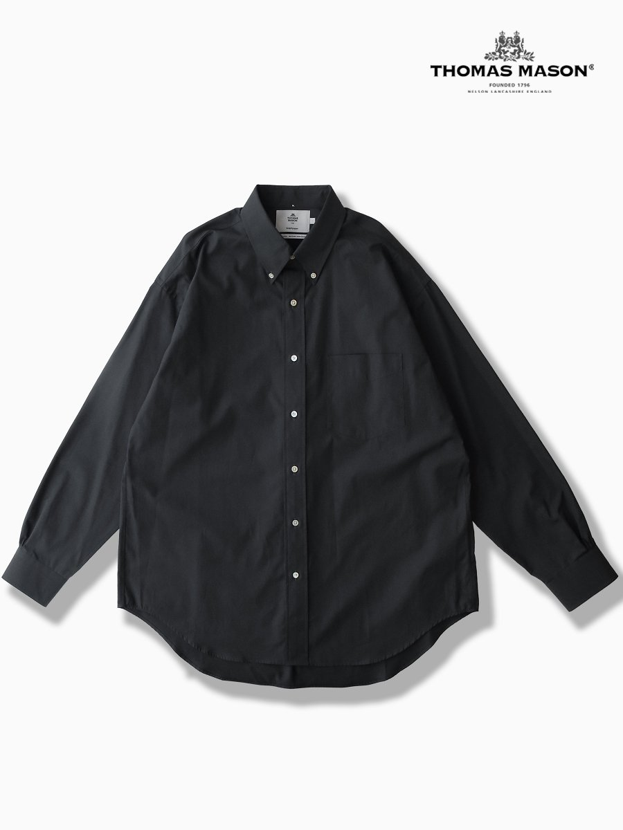 BRAND : Graphpaper<br>CONNECTED : THOMAS MASON<br>MODEL : B.D BOX SHIRT<br>COLOR : BLACK