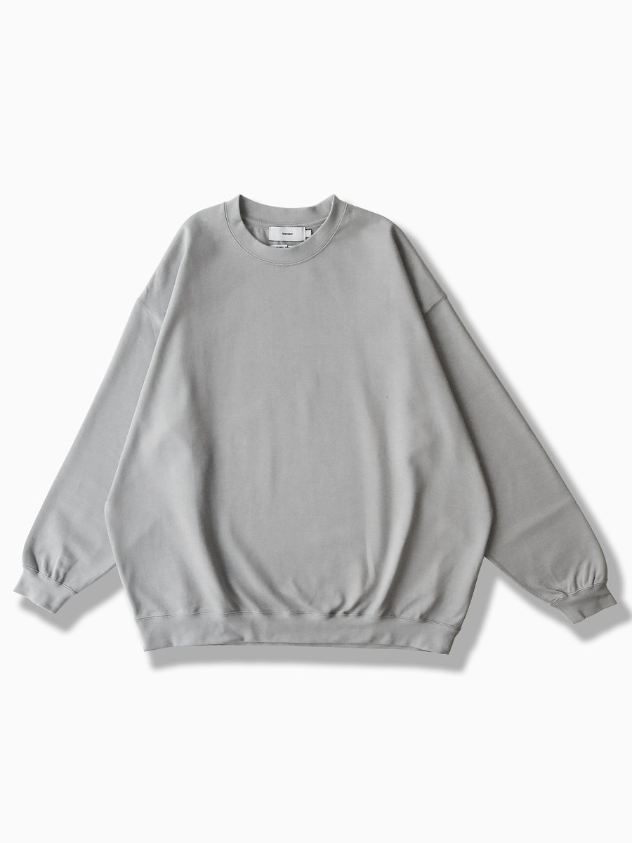 BRAND : Graphpaper<br>MODEL : HEAVEY WEIGHT CREW NECK HEM RIB TEE<br>COLOR : L.GRAY