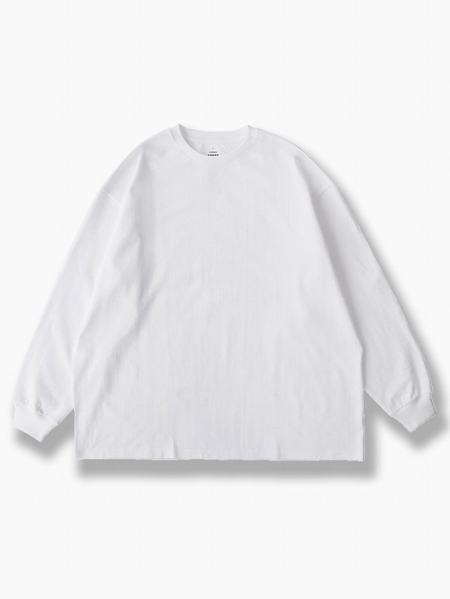 BRAND : Graphpaper<br>MODEL : L/S OVERSIZED TEE<br>COLOR : WHITE