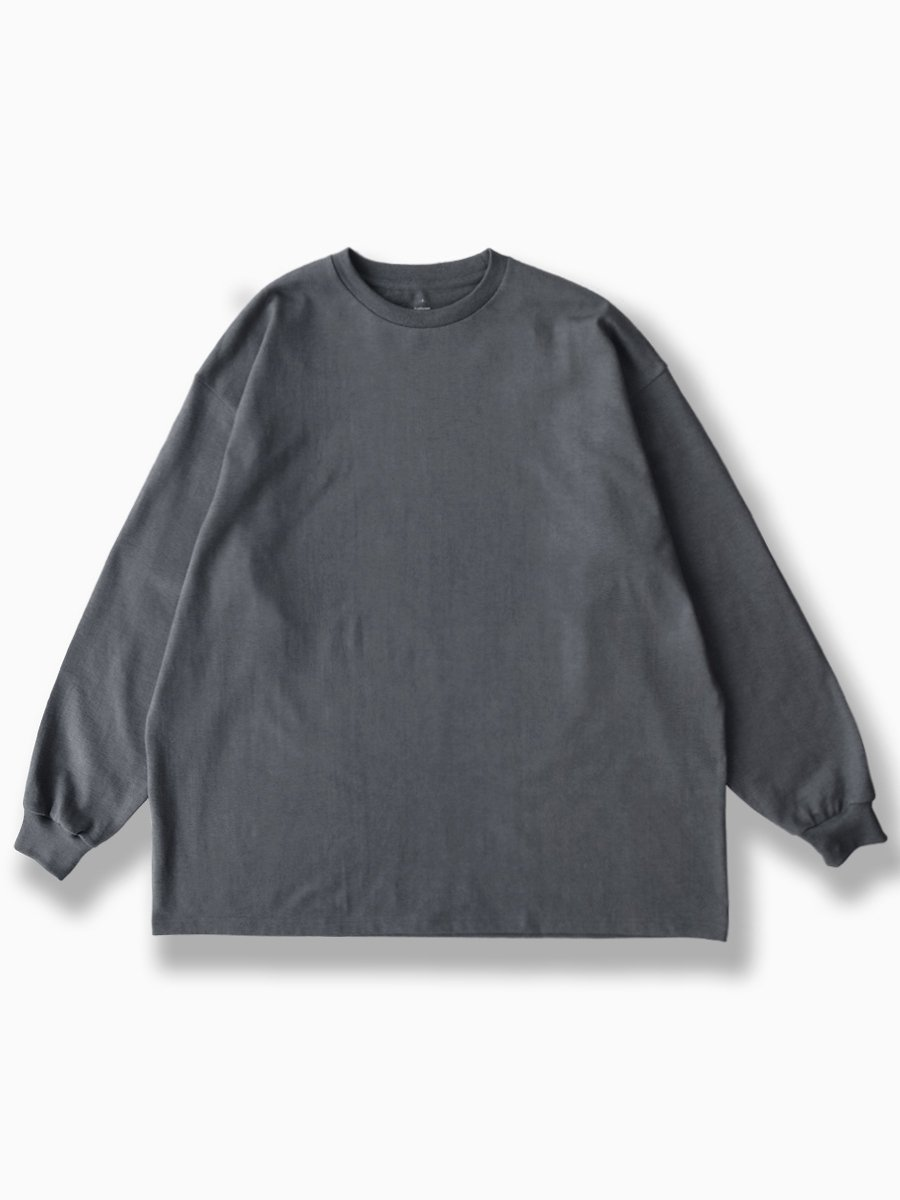 BRAND : Graphpaper<br>MODEL : L/S OVERSIZED TEE<br>COLOR : GRAY