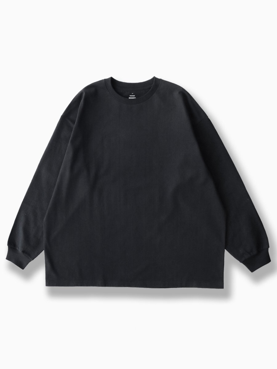 BRAND : Graphpaper<br>MODEL : L/S OVERSIZED TEE<br>COLOR : BLACK