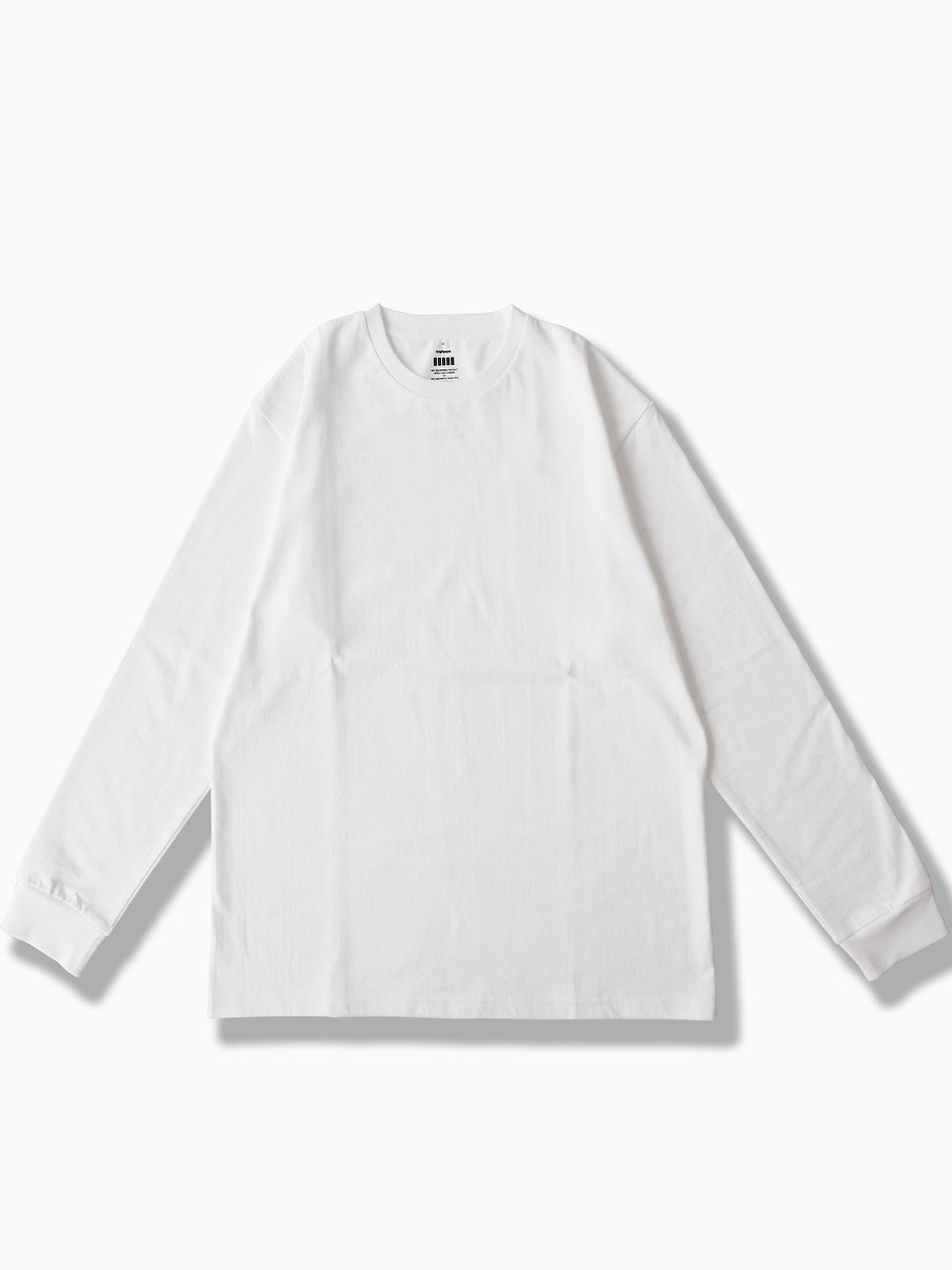 BRAND : Graphpaper<br>MODEL : L/S CREW NECK TEE<br>COLOR : WHITE