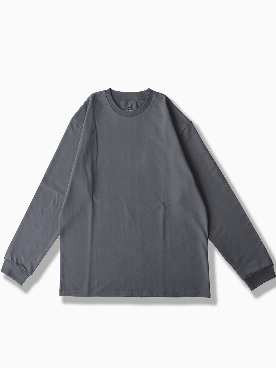 BRAND : Graphpaper<br>MODEL : L/S CREW NECK TEE<br>COLOR : GRAY