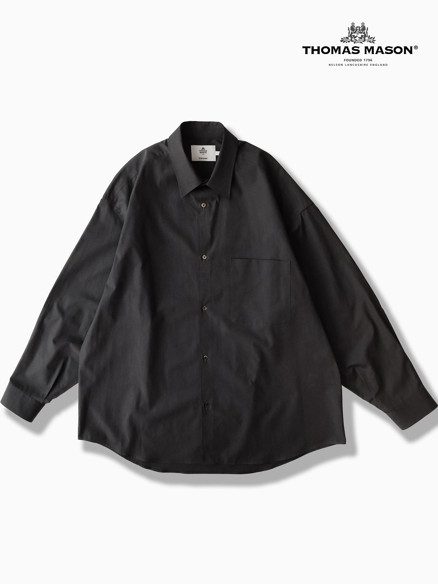 BRAND : Graphpaper<br>CONNECTED : THOMAS MASON<br>MODEL : L/S OVERSIZED REGULAR COLLAR SHIRT