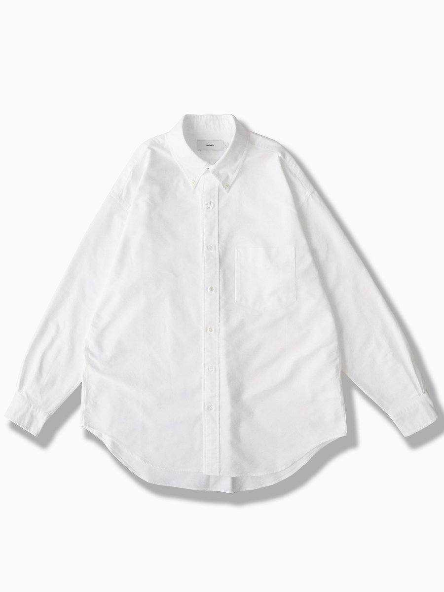 BRAND : Graphpaper<br>MODEL : OXFORD L/S B.D BOX SHIRT<br>COLOR : WHITE
