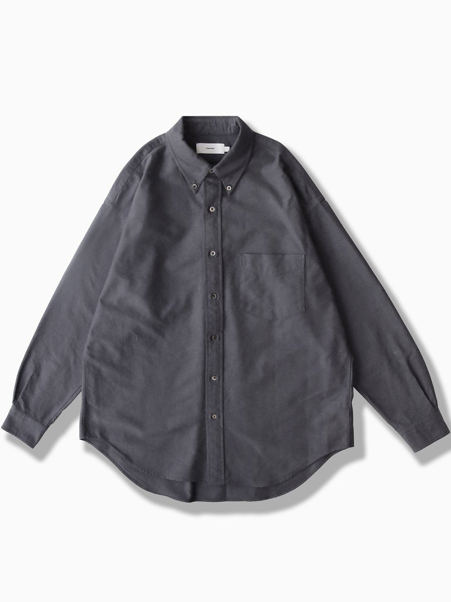 BRAND : Graphpaper<br>MODEL : OXFORD L/S B.D BOX SHIRT<br>COLOR : GRAY
