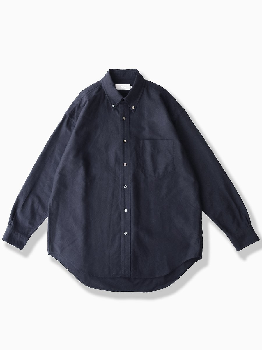 BRAND : Graphpaper<br>MODEL : OXFORD L/S B.D BOX SHIRT<br>COLOR : NAVY