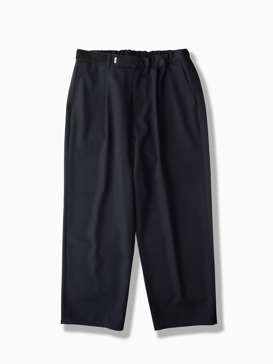 BRAND : Graphpaper<br>MODEL : SELVAGE WOOL WIDE CHEF PANTS<br>COLOR : NAVY