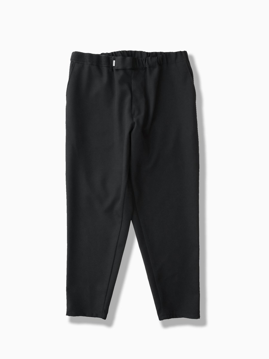 BRAND : Graphpaper<br>MODEL : SELVAGE WOOL CHEF PANTS<br>COLOR : BLACK