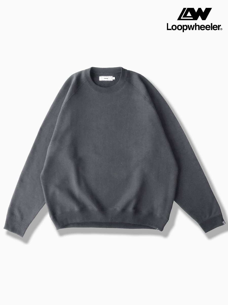 BRAND : Graphpaper<br>CONNECTED : LOOPWHEELER<br>MODEL : RAGLAN SWEAT<br>COLOR : GRAY
