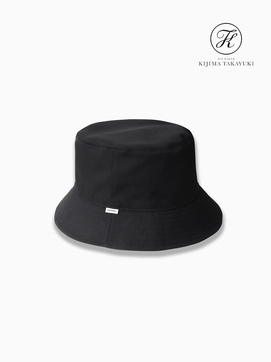 BRAND : Graphpaper<br>CONNECTED : KIJIMA TAKAYUKI<br>MODEL : SELVAGE WOOL BUCKET HAT<br>COLOR : BLK