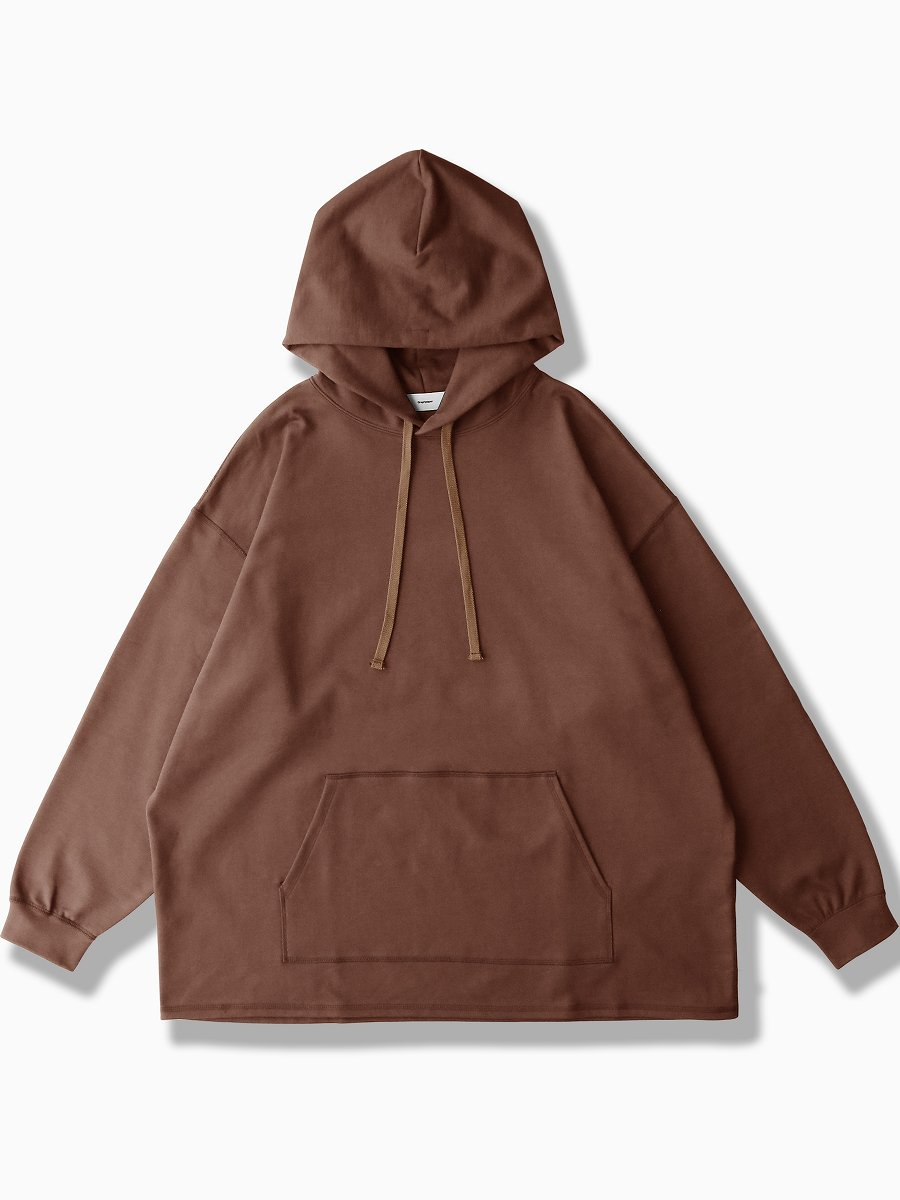 BRAND : Graphpaper<br>MODEL : COMPACT TERRY HOODIE<br>COLOR :   BROWN