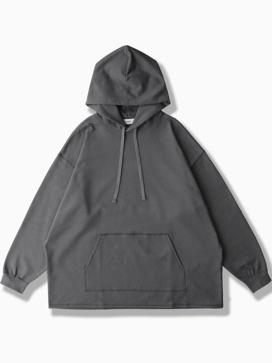 BRAND : Graphpaper<br>MODEL : COMPACT TERRY HOODIE<br>COLOR :   C.GRAY