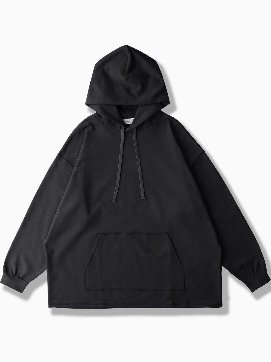 BRAND : Graphpaper<br>MODEL : COMPACT TERRY HOODIE<br>COLOR : BLACK
